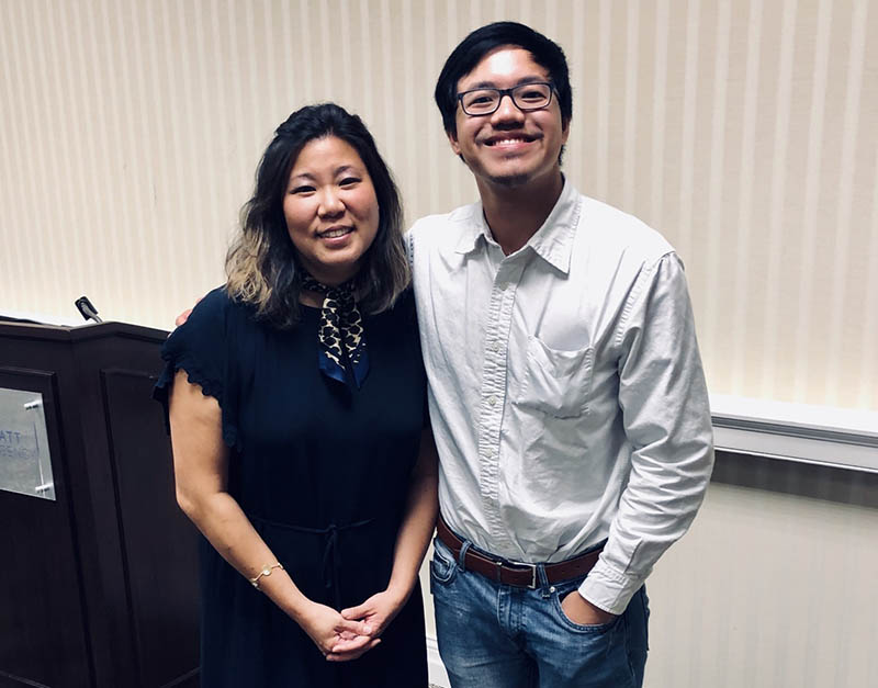 Ngoc Vuong with US Representative Grace Meng during a visit to Wichita in 2019. (Photo by Emily Stanley)