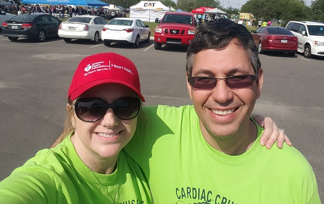 Alisa and Andy at Heart Walk