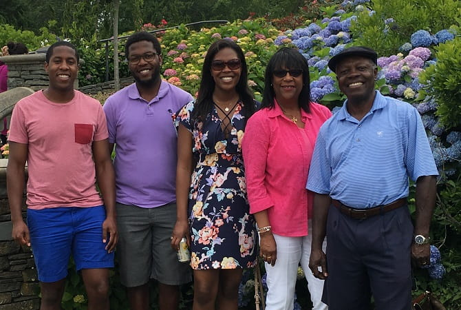Dr. Ivor Benjamin with his family in Rhode Island last July. (Photo courtesy of Ivor Benjamin)