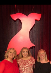 Christa and Katie Murphy with Beth Tomlin, the science teacher who taught Katie the signs of stroke.
