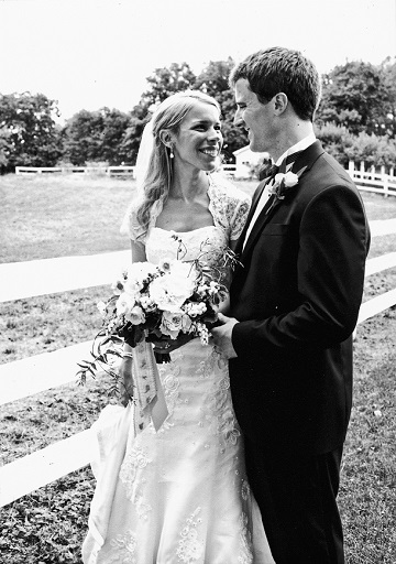 Dave Levy and wife Allison Pataki on their wedding day.