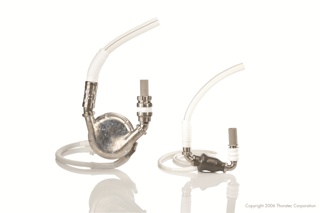 HeartMateII and XVE LVAD devices. Photo courtesy of St. Jude, Inc.