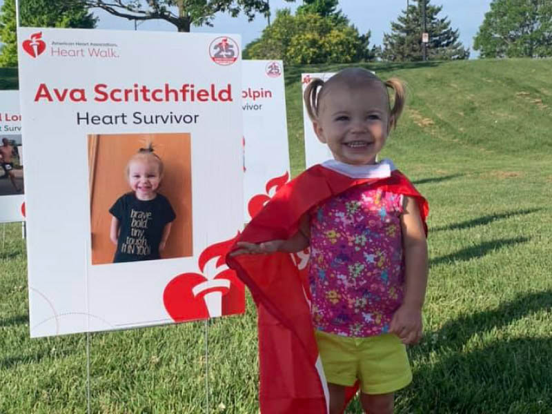 Ava Scritchfield at the 2019 Heart Walk. (Photo courtesy of Kayla Scritchfield)