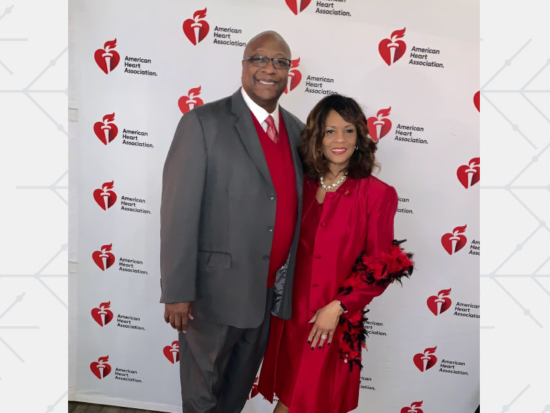 Heart disease survivor Ralph Lee and his wife, Janelle, at a Go Red for Women event in Canton, Ohio. (Photo courtesy of the Lee family)