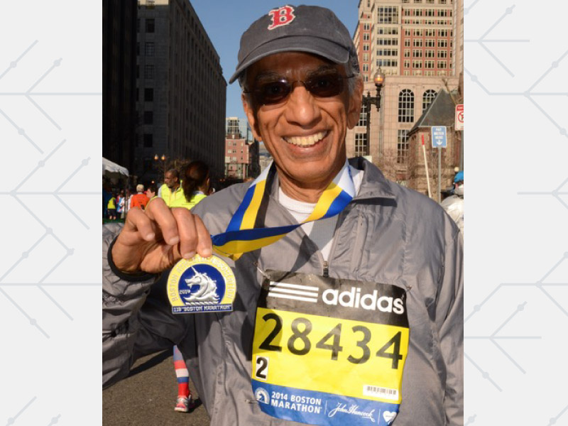 Dr. Akil Taherbhai went from heart bypass surgery to running marathons in less than a year. (Photo courtesy of Dr. Akil Taherbhai)