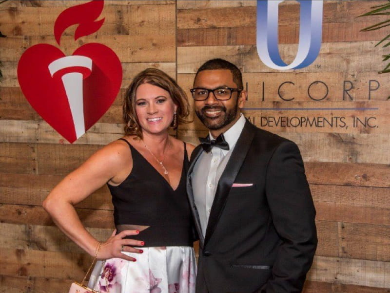 Heart disease survivor Steve Seeram with his wife, Christina, at the 2019 Orlando Heart Ball. (American Heart Association)