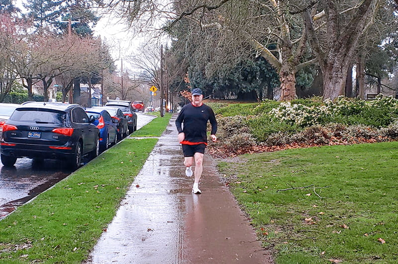 Doug Cobb training for the Pacific Crest Half Marathon taking place in June 2020. (Photo by Mike Hilliard)