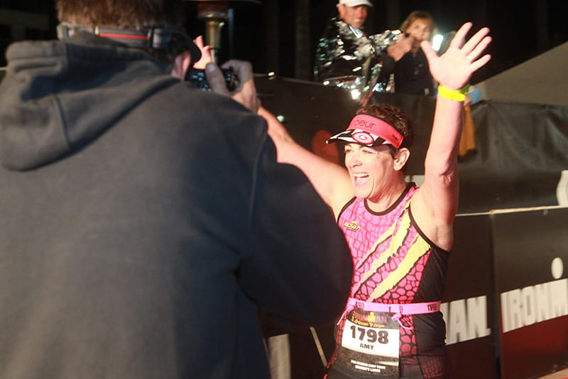 Amy Downs finishes the Ironman. (Photo courtesy of Amy Downs)