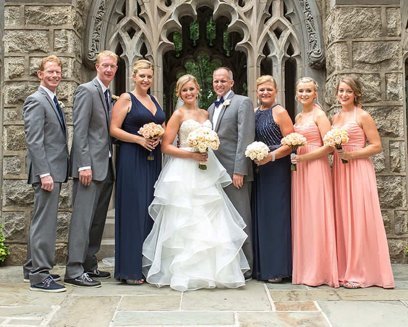 Chris Hagan (far left) celebrating his step-daughter, Chelsea, at her wedding in August 2017.  (Photo courtesy of Chris Hagan)