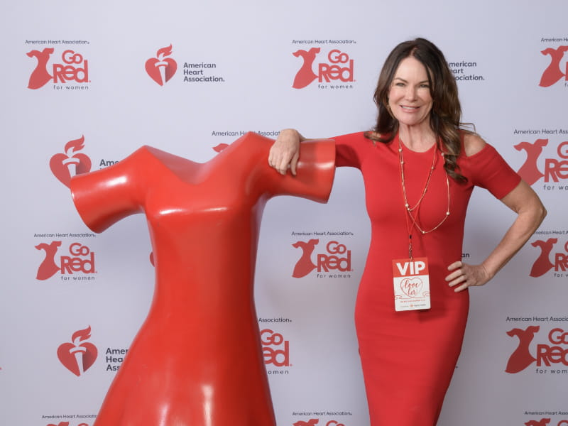Heart attack survivor Stacey Bailey at the Phoenix Go Red for Women Luncheon in 2018. (Photo courtesy of Stacey Bailey)