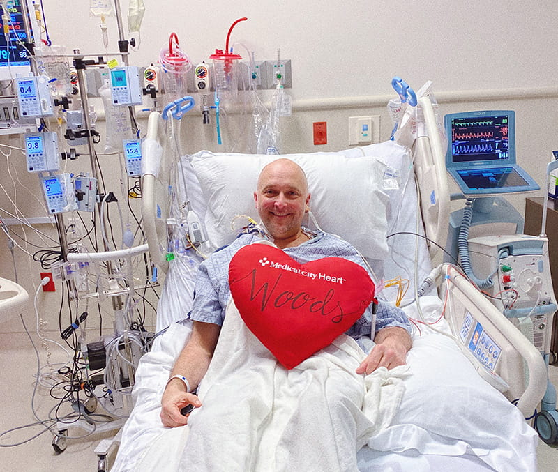 Rev. Eddie Woods just before going into surgery to receive his new heart. (Photo courtesy of Rev. Eddie Woods)