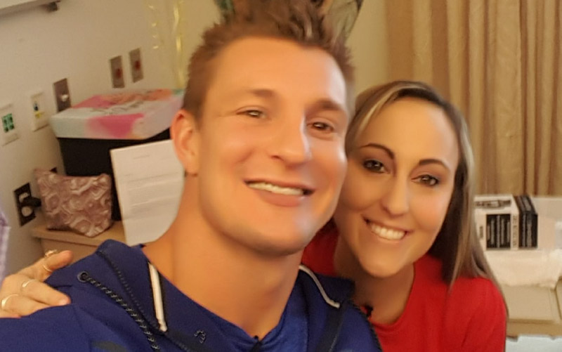Lauren Meizo with New England Patriots star Rob Gronkowski. (Photo courtesy of Lauren Meizo)