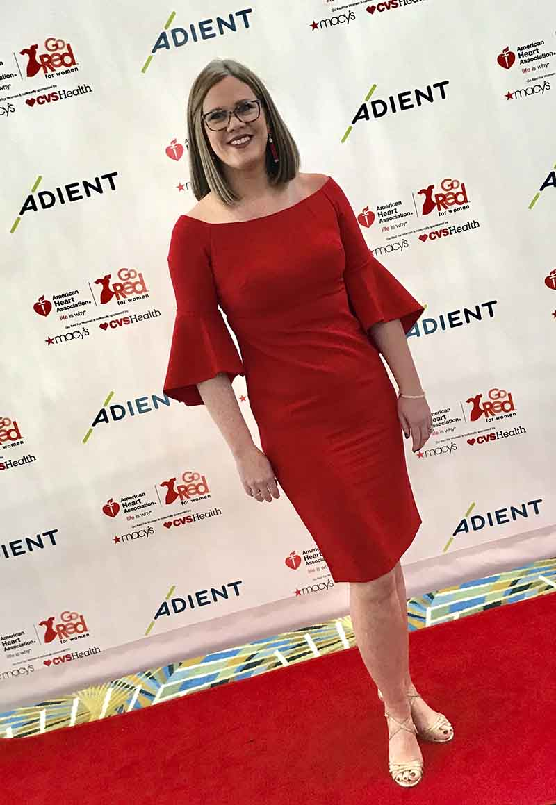 Kelly Sosnowski in 2018 at her first Go Red for Women luncheon in Detroit. (Photo courtesy of Kelly Sosnowski)