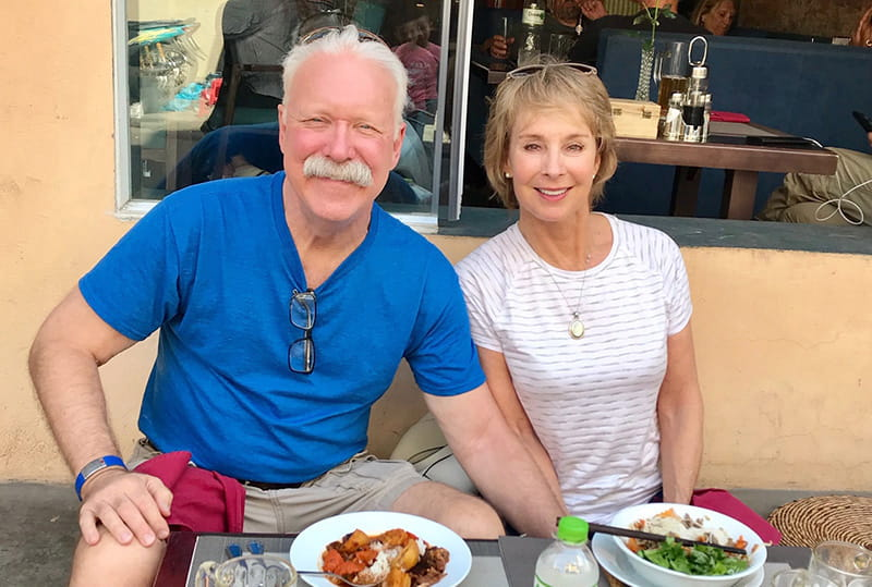 Joe Farrell and his wife Edie in Vietnam earlier this year. (Photo courtesy of Joe Farrell)
