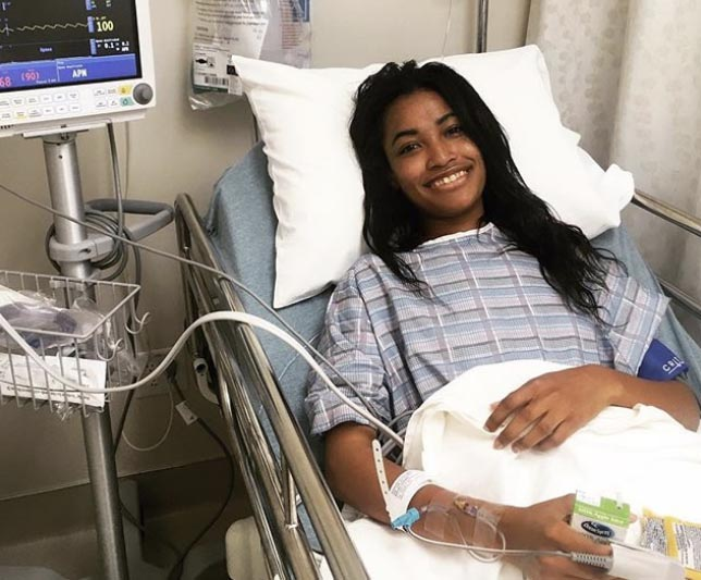 Chelsea Keenan recovering in the hospital. (Photo courtesy of Chelsea Keenan)