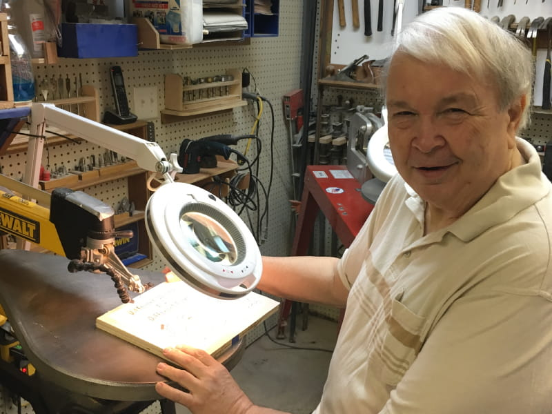 Gary Lucas uses his passion for woodworking to recover from a stroke. (Photo courtesy of Gary Lucas)