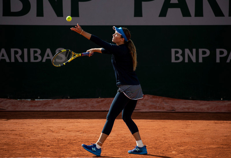 Danielle Collins in action at the 2020 French Open. (Photo by New Balance)