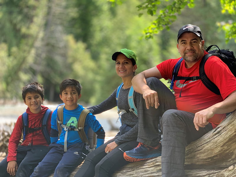 Dr. Svati Shah with her sons and husband on a family outing. (Photo courtesy of Dr. Svati Shah)
