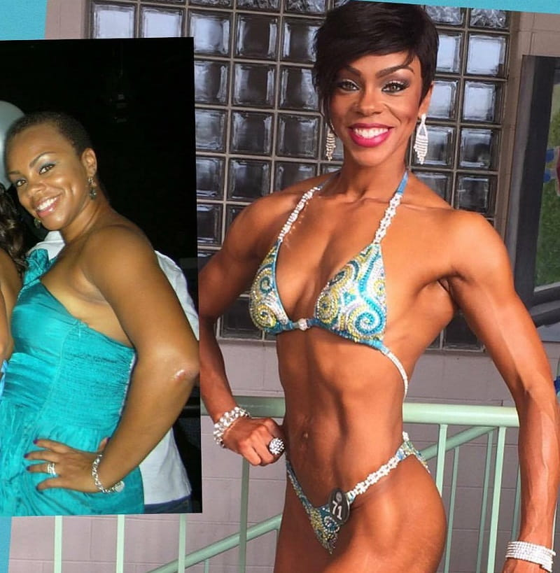 Tina Johnson before and after