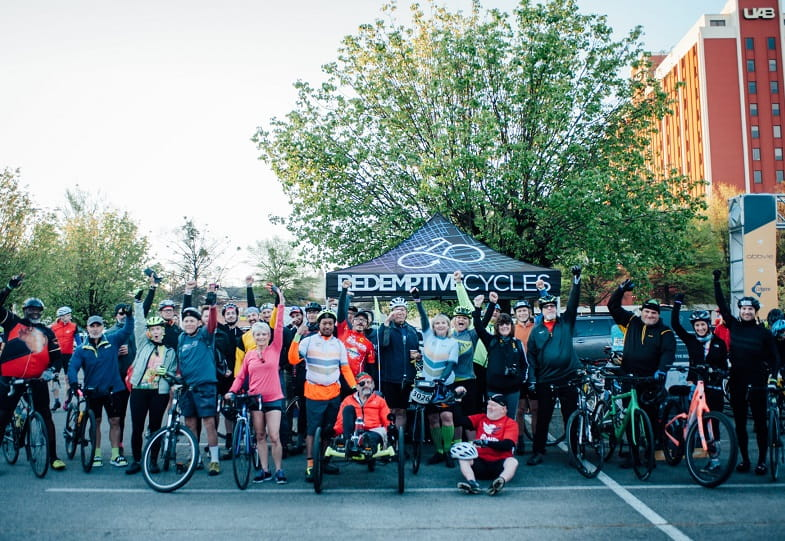 Redemptive Cycles hosts a weekly 10-mile ride through Birmingham, Alabama. (Photo courtesy of Kathryn Doornbos)