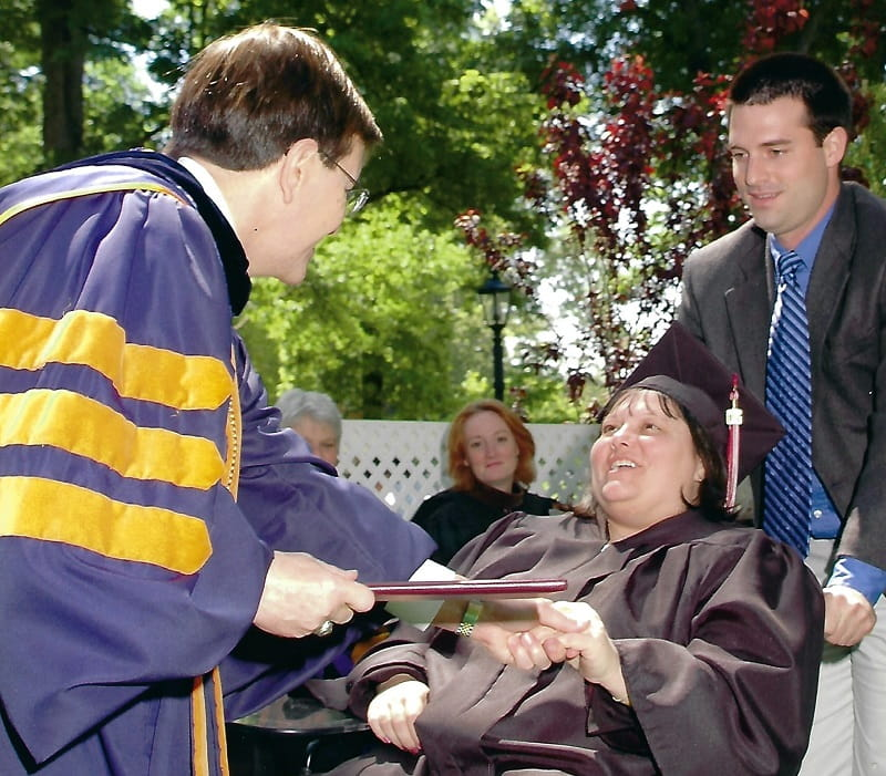 Diana Washburn received her college degree just six weeks after having a stroke. (Photo courtesy of Diana Washburn)