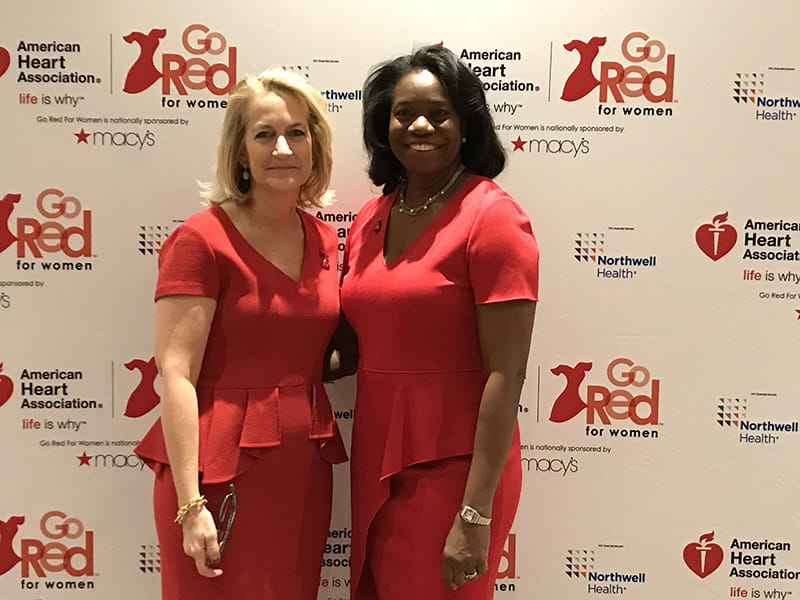 "Stacey and Jennifer Mieres, MD, Northwell's Chief Diversity Officer, leader of the Center for Equity of Care and Stacey's co-author of ""Heart Smart for Women."" (Photo courtesy of Dr. Stacey Rosen)"
