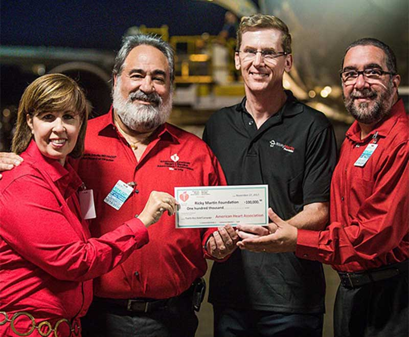 In November 2017, Davila was among the American Heart Association volunteers who presented a $100,000 donation to help rebuild Puerto Rico following Hurricane Maria.