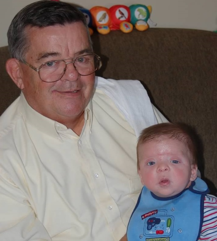 Robby Pechillo (right) and grandfather Bob Newton in 2006. Both had open heart  surgery  the  next  year. (Photo courtesy of Leigh Pechillo)