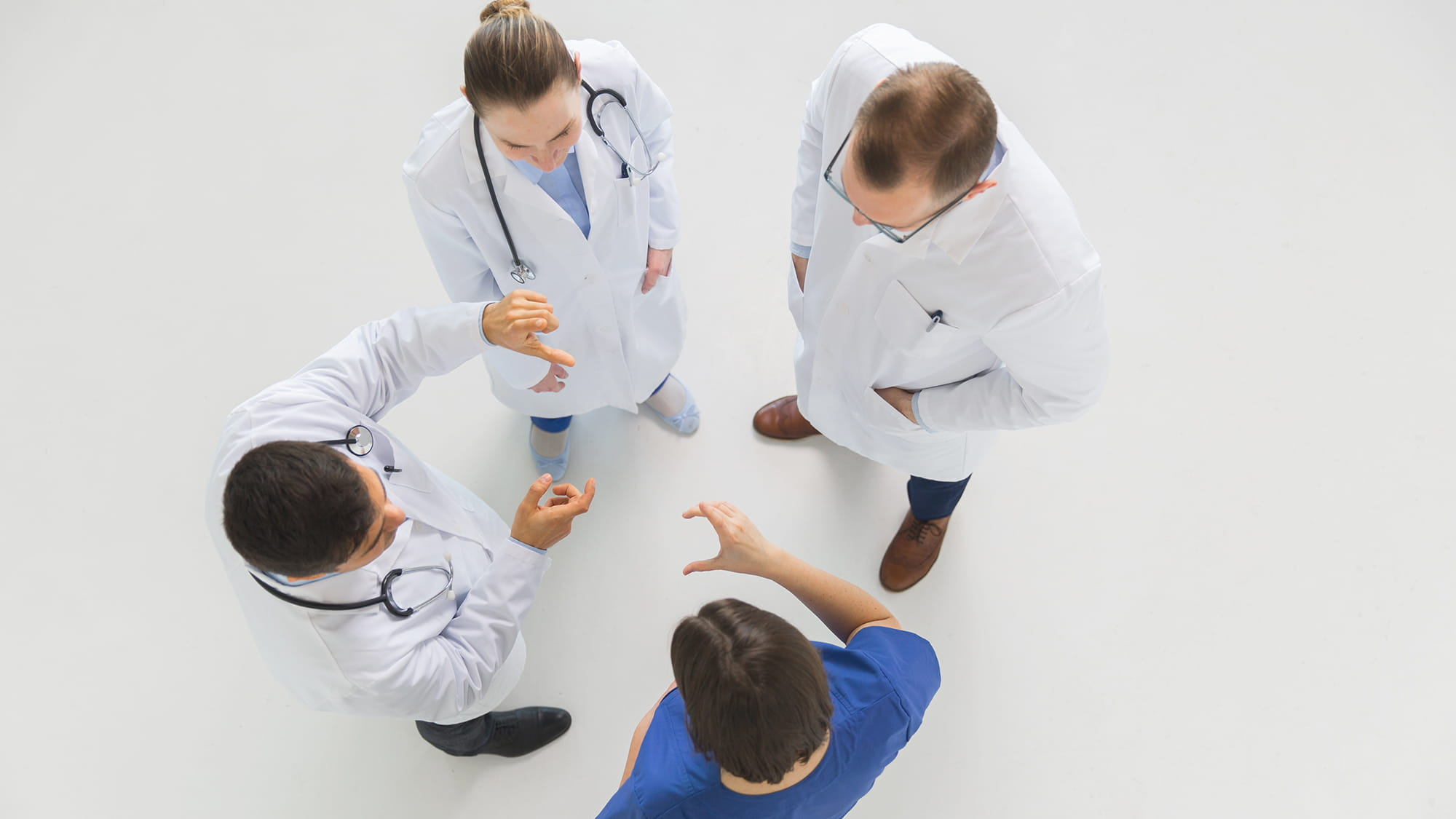 group of doctors discussing