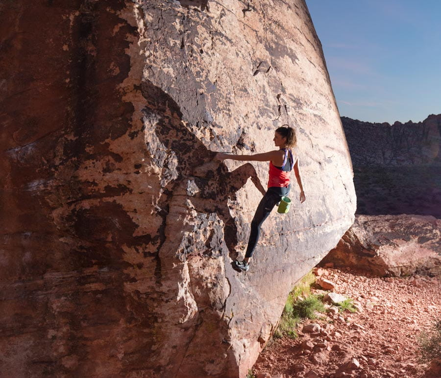 Image of Molly Hemphill trains in bouldering