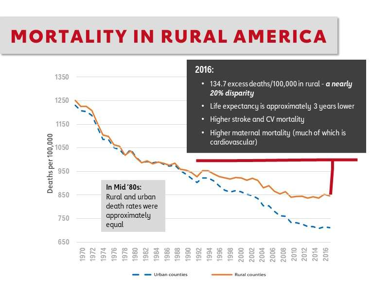 mortality in rural america chart